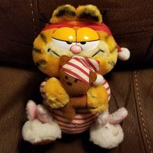 80s Vintage Garfield in PJs with Pooky Bear